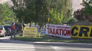 Nevada Attorney General Catherine Cortez Masto and Taxation protest