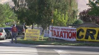 Nevada Attorney General Catherine Cortez Masto and Taxation protest
